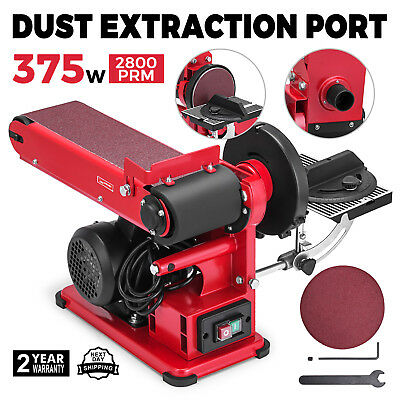Electric Belt and Disc Sander Bench Grinder 375W With Dust Extraction Port