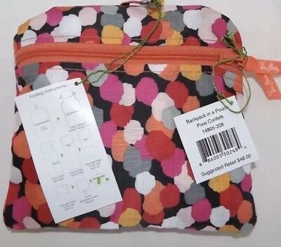 b9fc414fbf VERA BRADLEY BACKPACK in a Pouch - PIXIE CONFETTI - Brand New with ...