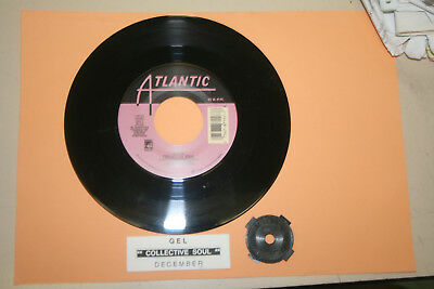 "COLLECTIVE SOUL Gel & December  7"" 45 rpm record + juke box title strip RARE!"