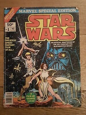 Star Wars Marvel Special Edition No.1 Collector's Edition Over Sized Comic 1977