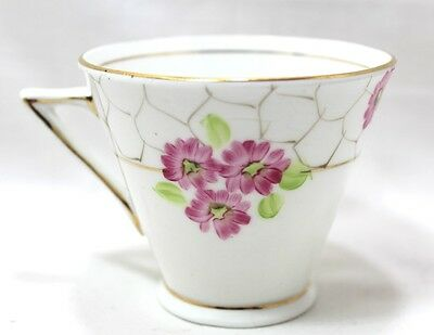 Vintage Phoenix China Cup Floral Design TF&S Ltd Made In England Gold Trim