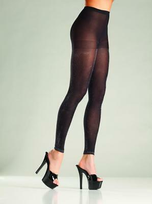 28de43fdacc2c sexy BE WICKED opaque SHIMMERY trimmed FOOTLESS tights GLITTER pantyhose  NYLONS