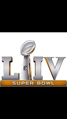 """Super Bowl LIII 54 Embroidered Patch Iron / Sew On 2019 Jersey Football NFL 3.5"""""""