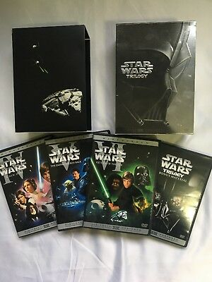 Star Wars Trilogy DVD 2004 4-Disc Set, Widescreen Complete Very Good Condition