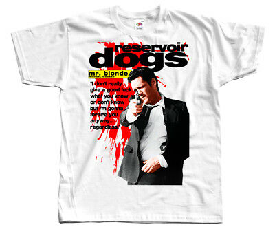 Reservoir Dogs 1992 WHITE T SHIRT 100% cotton Quentin Tarantino All sizes S-5XL