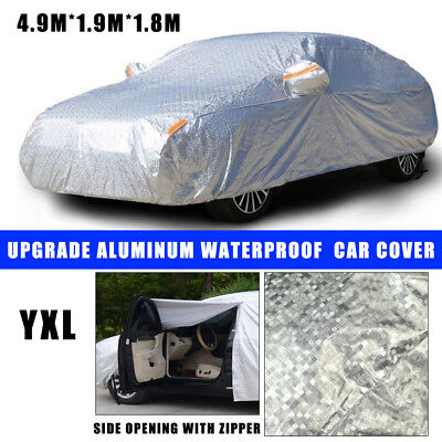 3 Layers Double Thick Waterproof Car Cover Rain UV Dust Resistant Protection YXL
