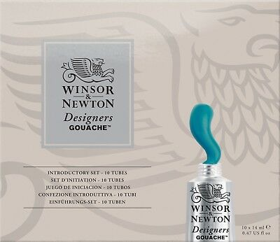 Winsor and Newton Designers' Gouache Introductory Colour Set - 10 x 14ml Tubes