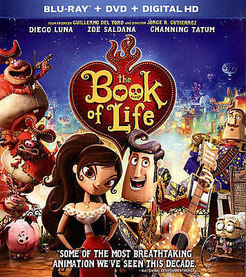 The Book of Life Animated Movie (Blu-ray/DVD Discs, 2015) No Digital Code