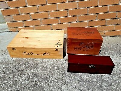 wooden wines boxes