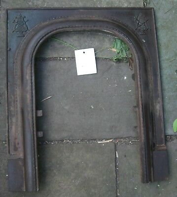 Cast Iron Fireplace  Mantel frame  Arched Antique 1800's   Music corners