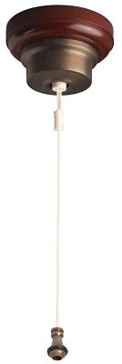 Federation Ceiling Pull Cord Switch - Aged Brass with White Cord 54 TFAGCS