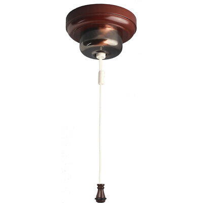 Florentine Bronze Heritage Ceiling Pull Cord Switch with AC Cord Weight 54 FBCS