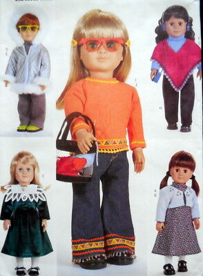 "McCalls Sewing Patterns 6855 18/"" Doll International Clothes China India"