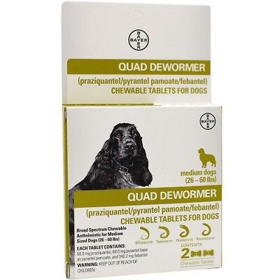 Dewormer For Dogs 26-60lbs 2 tablets