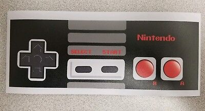 NES Controller sticker. 3.5 x 8. (Buy any 3 stickers, GET ONE FREE!)