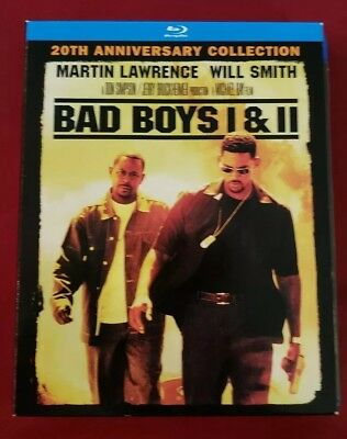 Bad Boys 1 & 2 Bluray . No Digital Code . 20th Edition. Slipcover.