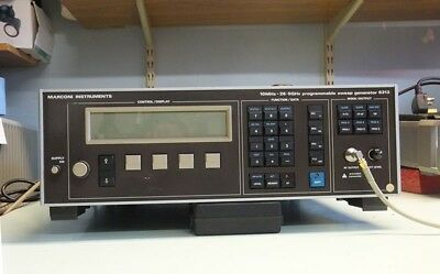 MARCONI INSTRUMENTS PROGRAMMABLE SWEEP GENERATOR *6313 * 26.5GHz Good Condition
