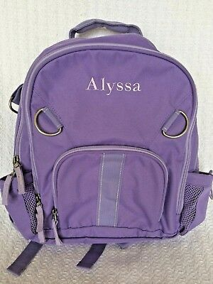 Pottery Barn Mackenzie Lavender Butterfly Backpack And
