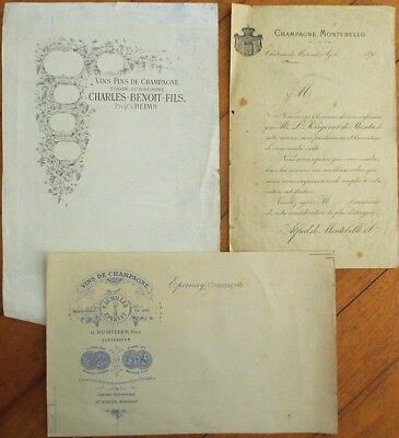 Champagne Printer/Lithographer Proof Archive Group 1890s Labels- Epernay, France