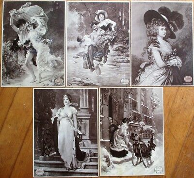 Candee Rubber Co. Boots/Shoes 1900 6x8 Advertising Prints- SET OF FIVE DIFFERENT