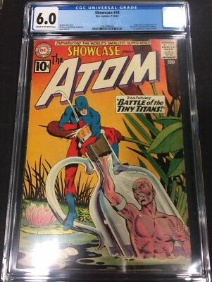 Showcase #34 1st Appearance of Silver Age Atom CGC 6.0 FN