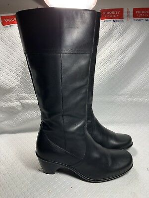 799f00220cb DANSKO TALL BLACK Leather Side Zip Knee High Boots Womens Size EU 39 ...