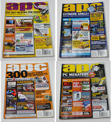 Australian Personal Computer (APC) Magazine (4 Issues from 2006) + 1 Cover DVD