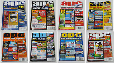 Australian Personal Computer (APC) Magazine (8 Issues from 2005) + 6 Cover DVDs