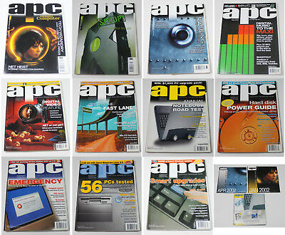 Australian Personal Computer (APC) Magazine (11 Issues from 2002) + 3 Cover CDs