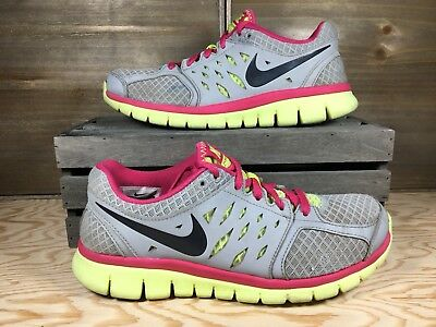 030f62b87e20 Nike Flex Fitsole 2013 Womens Running 580440-015 Pink and Gray Sneakers 7.5