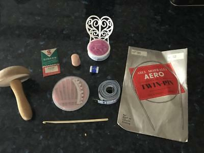 VINTAGE SEWING ITEMS / ENGLAND / SINGER NEEDLES/ TAPE MEASURE/NEEDLES etc.