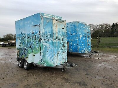 twin axle box trailer Fully Braked