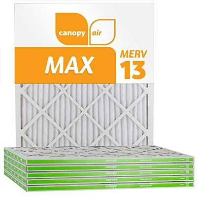 Canopy Air 20x25x1 MERV 13 (6 Pack) MAX Allergen Protection Air Filter for a Hea