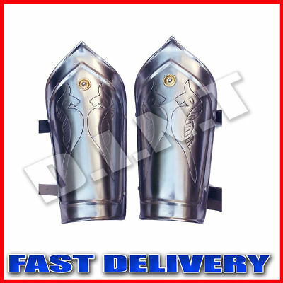 Medieval Iron Steel Arm Guards Metal Warrior Guard Vambraces Spartan Bracers