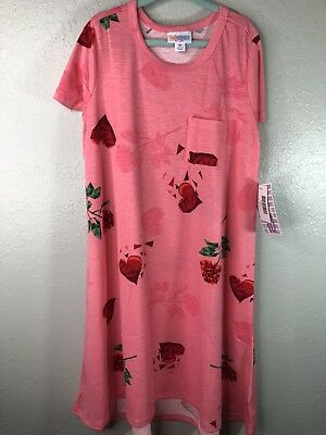 Dresses Nwt Lularoe Happy Hearts Scarlett Roses Pink Dress Sz 6 Up-To-Date Styling Kids' Clothing, Shoes & Accs