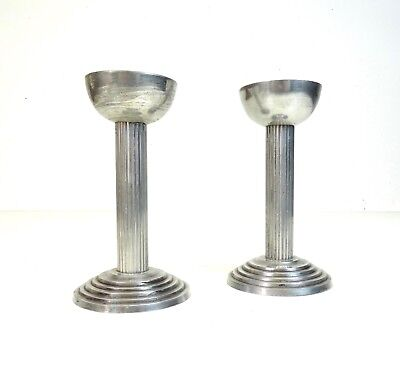 Rare Original German 30S Metropolis Candle Sticks Holder Bauhaus Age Art Deco