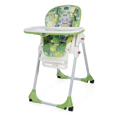 Seggiolone Pappa Chicco Easy - Quattro Ruote-Chicco: Happy Jungle