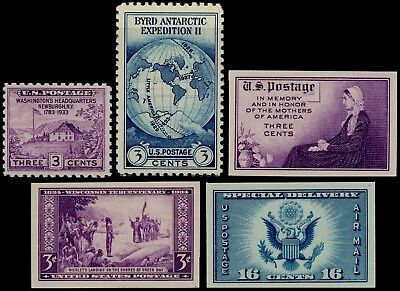 US 1935 Farley Commemorative Singles, Stamps 752 // 771, Mint MNH NH NGAI - JP1