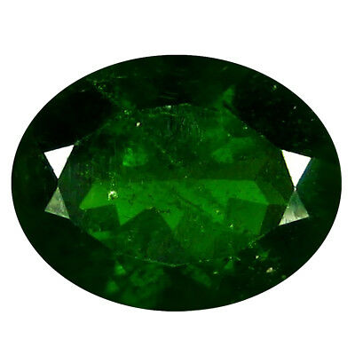 2.84 ct AAA Charming Oval Shape (10 x 8 mm) Green Chrome Diopside Loose Gemstone