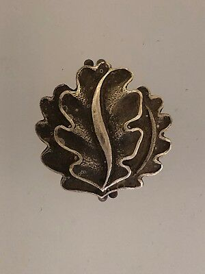 SOLID SILVER Germany WWII Oak leaves to the 1939 Knights Cross