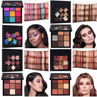 Huda beauty Waterproof Eyeshadow Palette 9 Colors Long-Lasting Matt Glitte IT8h