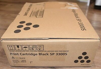 New Genuine Ricoh Black 406219 Toner Cartridge For SP 3300S