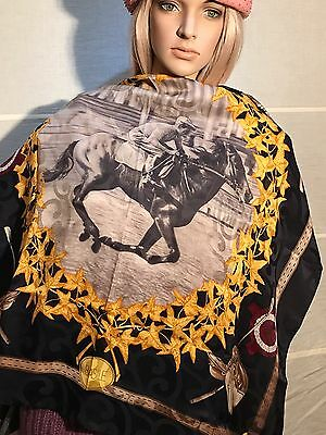 a898d8ad660 BASILE Tuch foulard carre Schal Stola stole shawl Seide silk soie Made in  Italy