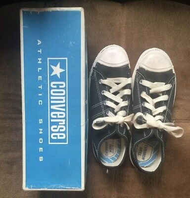 Vtg 60s Black Blue Unisex Comfort Arch Boys Fast Break Converse 3.5