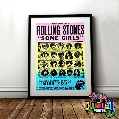 The Rolling Stones Poster Print In A3 A4 Rock And Roll Old Posters