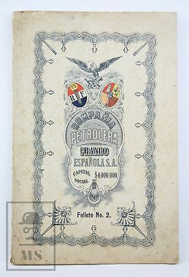 French-Spanish Oil Company Brochure - Mexico, 1914 - Includes 2 Petrol Well Maps