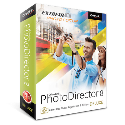 CyberLink PhotoDirector 8 Deluxe Editor Manage Adjust Edit Photo Remove Objects
