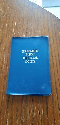 Britians first decimal coin set (1968 & 71) Great condition