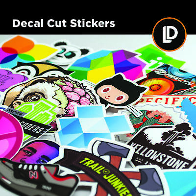 DECAL CUT STICKERS - Digitally printed decal die-cut stickers