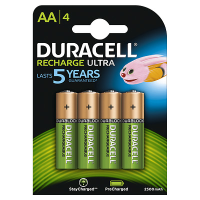 16 x Duracell AA 2500 mAh Rechargeable ULTRA Batteries, NiMH HR6 MN1500. 60% OFF